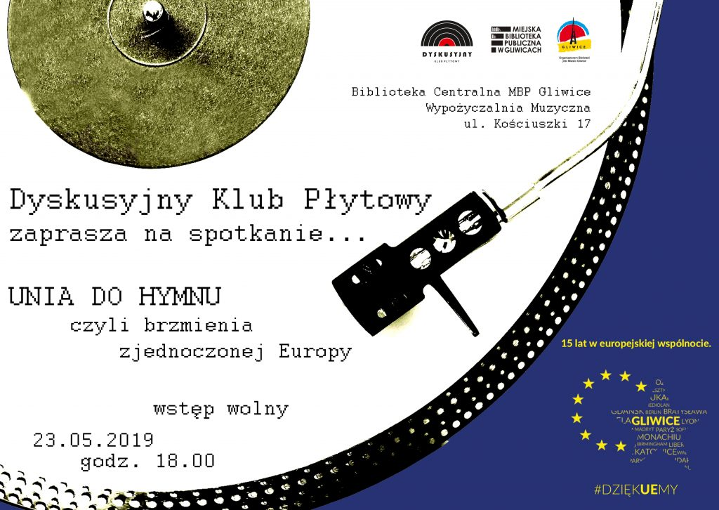 Plakat spotkania Dyskusyjnego Klubu Płytowego