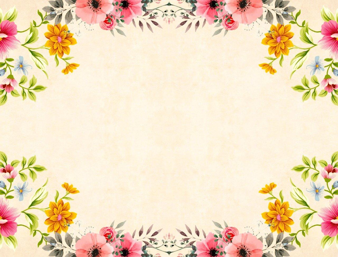 ramka kwiatowa graficzna