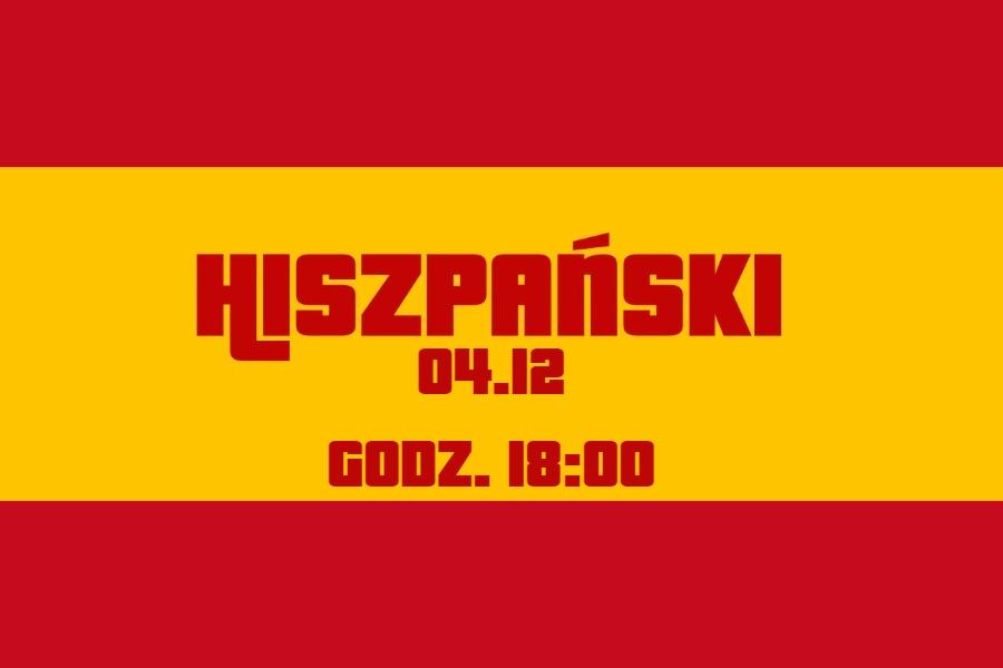 flaga hiszpanii z graficzną informacją o dacie warsztatów