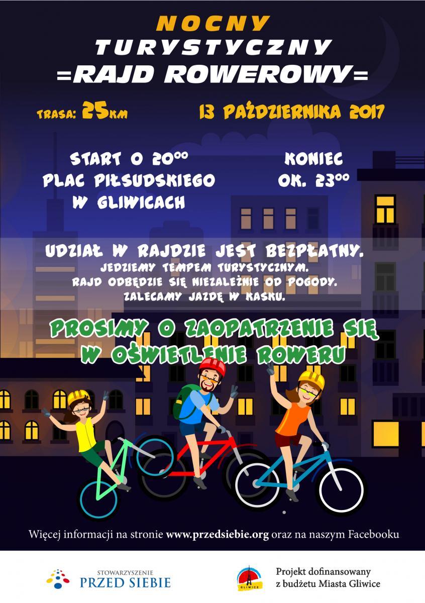nocny rajd rowerowy - plakat