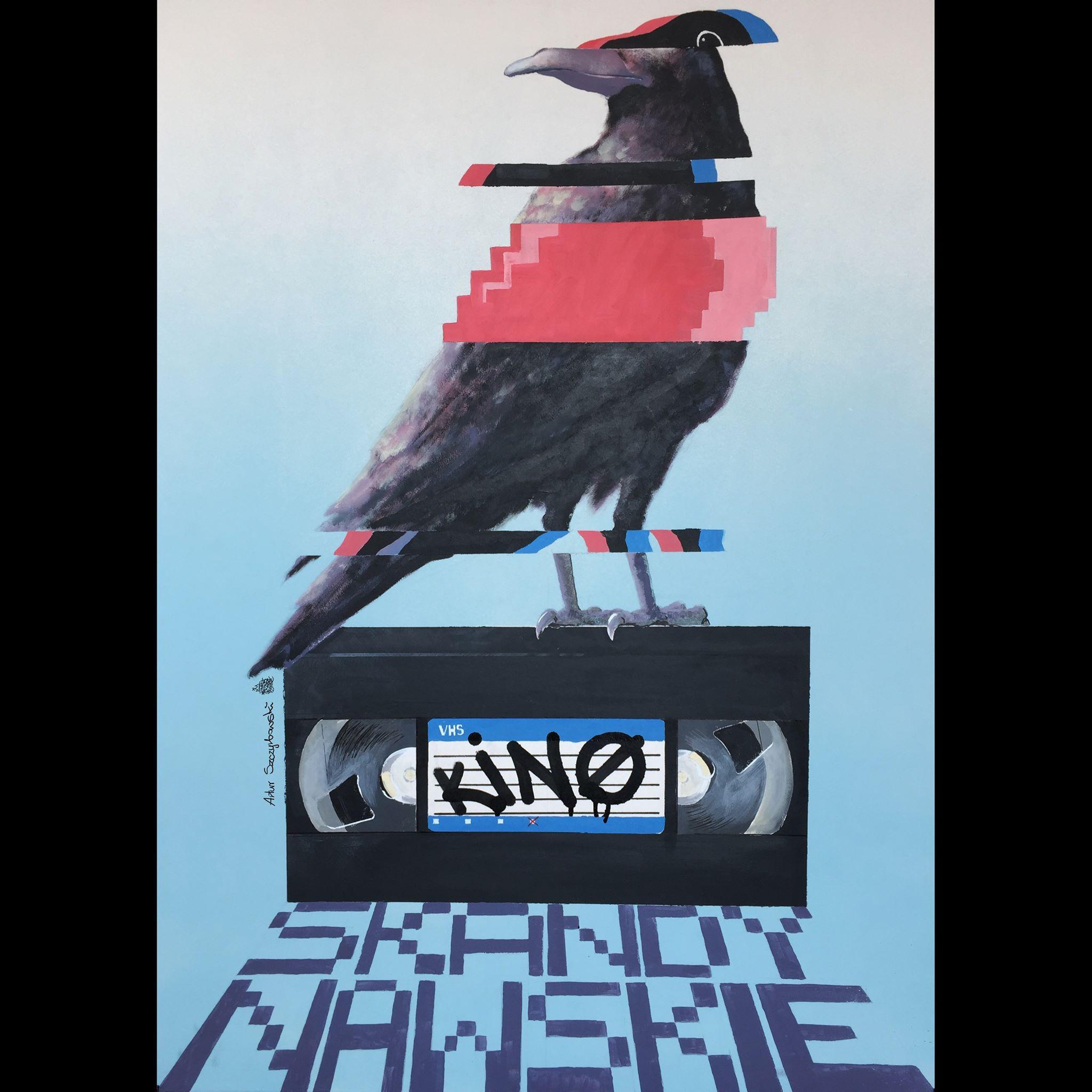 plakat: kolorowy ptak