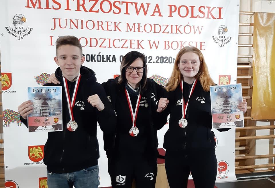 Trenerka martyna Schunke wraz z Olivierem Chudzińskim i Ines Cebullą