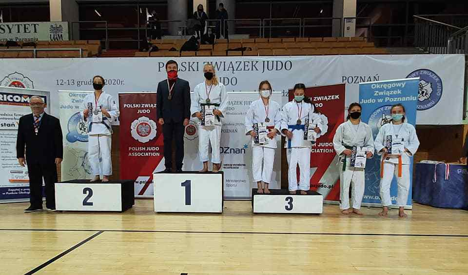 gliwicka zawodniczka na podium MPM w Judo