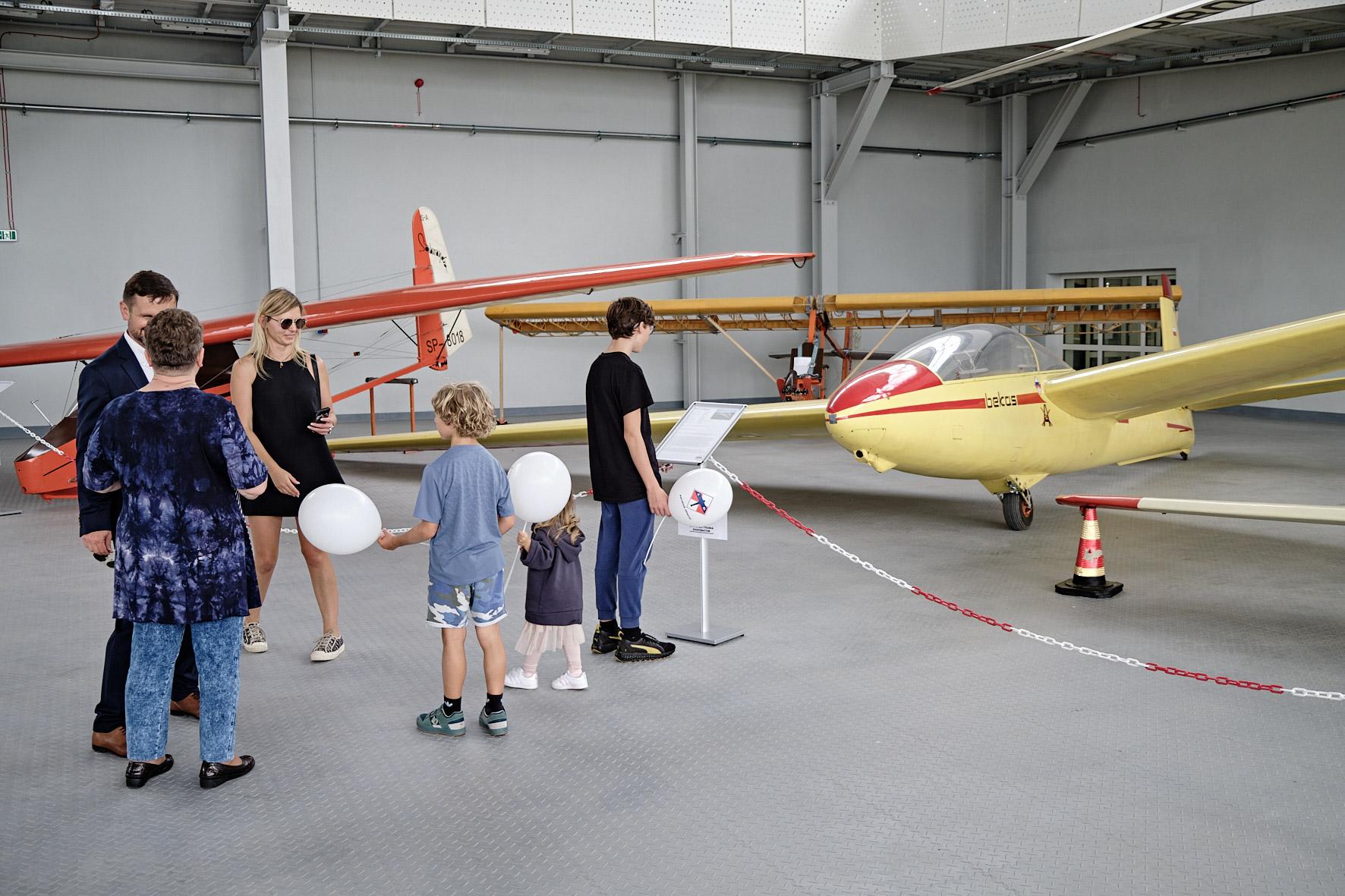 wystawaw Gliwickim Centrum Edukacji Lotniczej