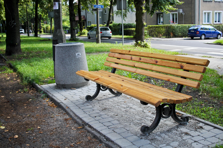 zdjęcie ławki przy al. Mickiewicza