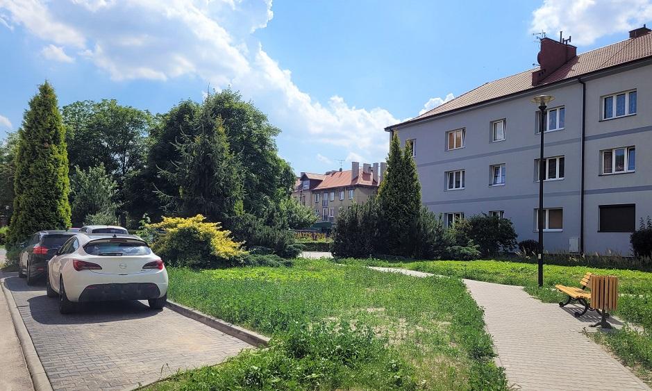 miejsca postojowe przy ul. Piastowskiej