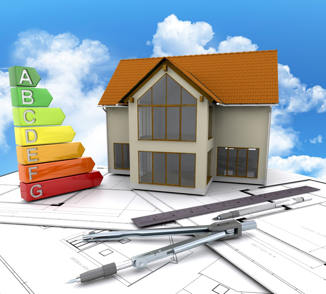 model domu 3d i panel energetyczny