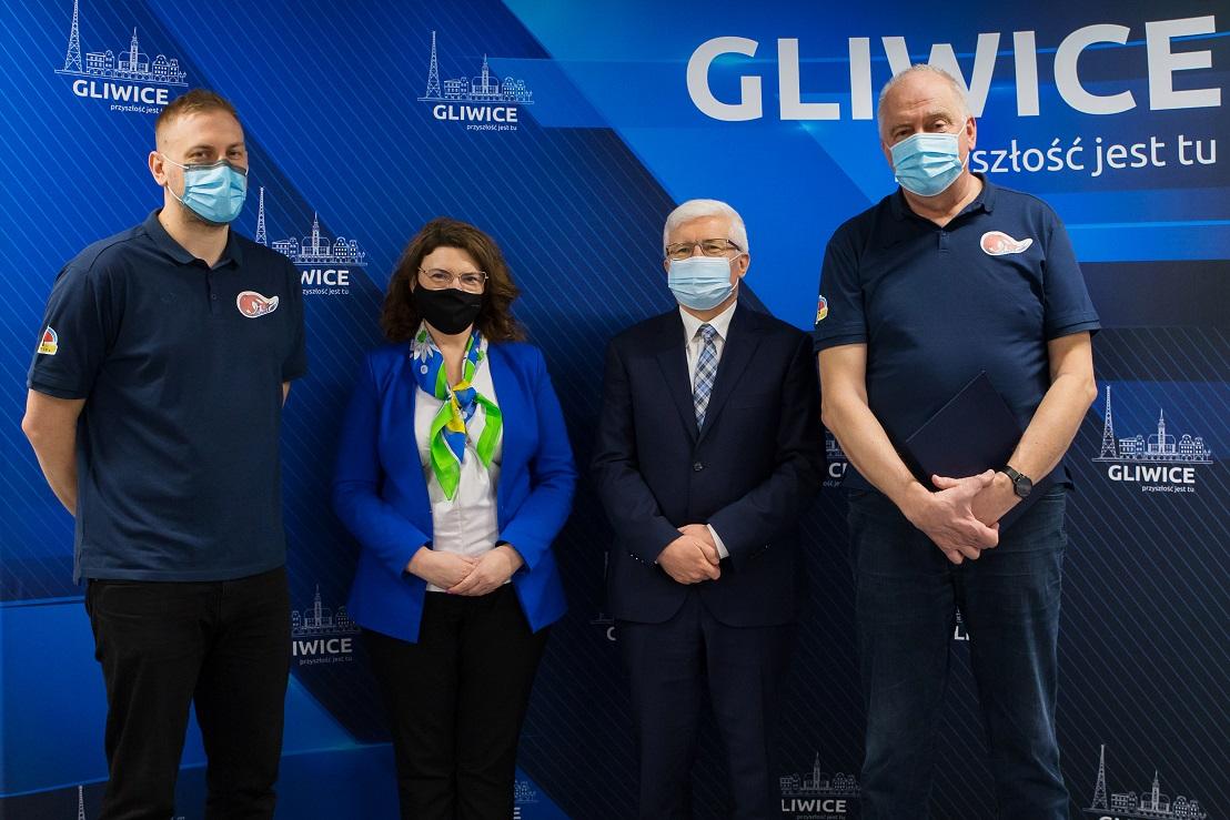 Spotkanie przedsatwicieli MIG z prezydentem Gliwic i zastępca prezydenta Gliwic