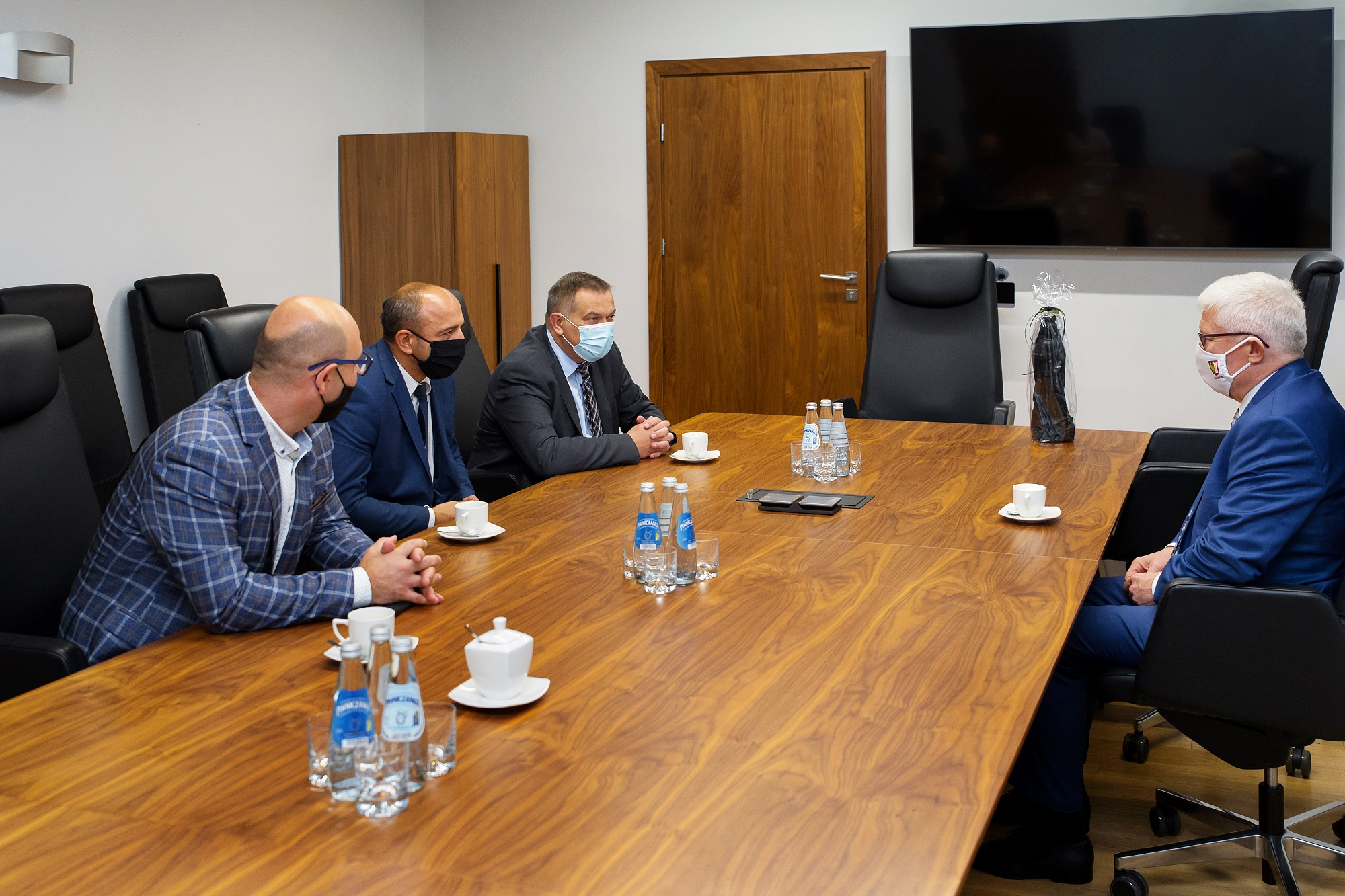 rozmowy dyrekcji KWK Sośnica z prezydentem Adamem Neumannem