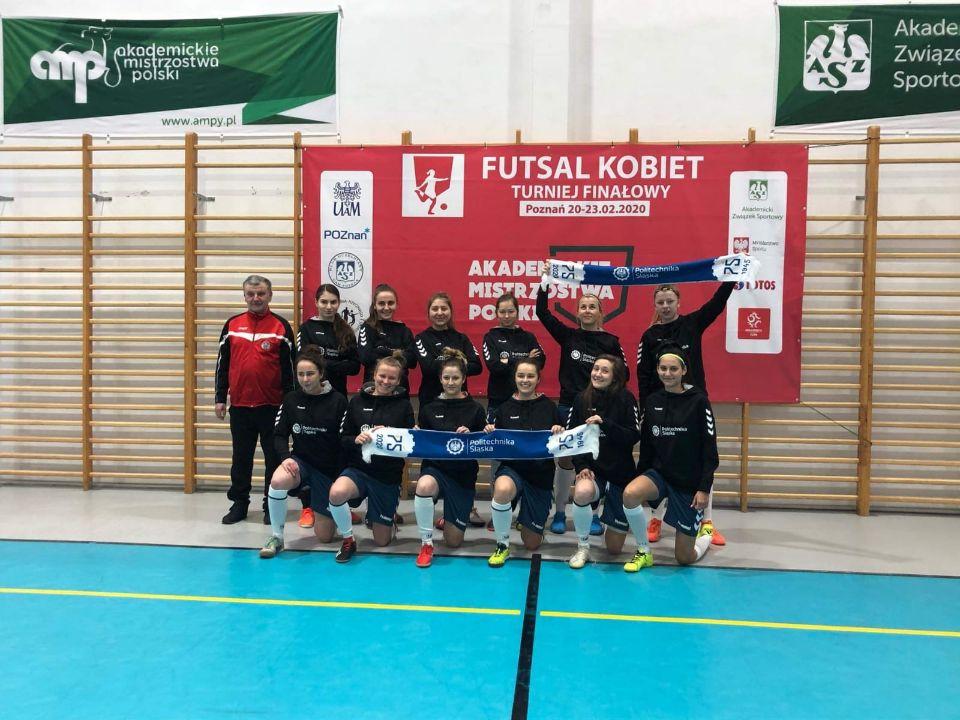kobieca drużyna futsalu Politechniki Śląskiej