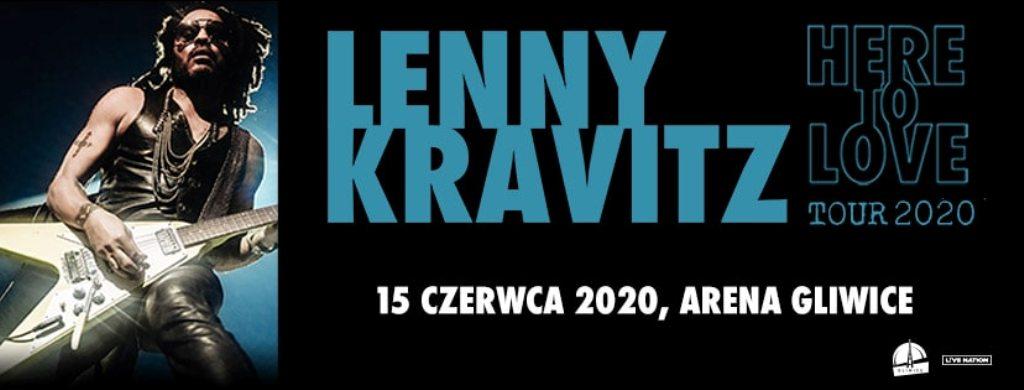 banner ze zdjęciem Lenny'ego Kravitza i datą koncertu