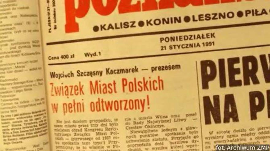 wycinek gazety z 1991 r.