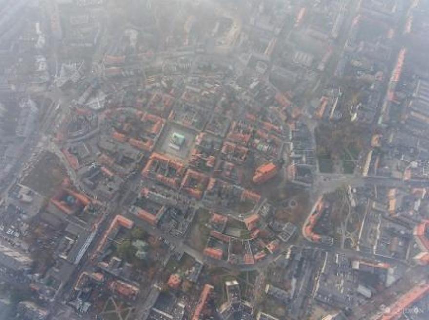 miasto z góry