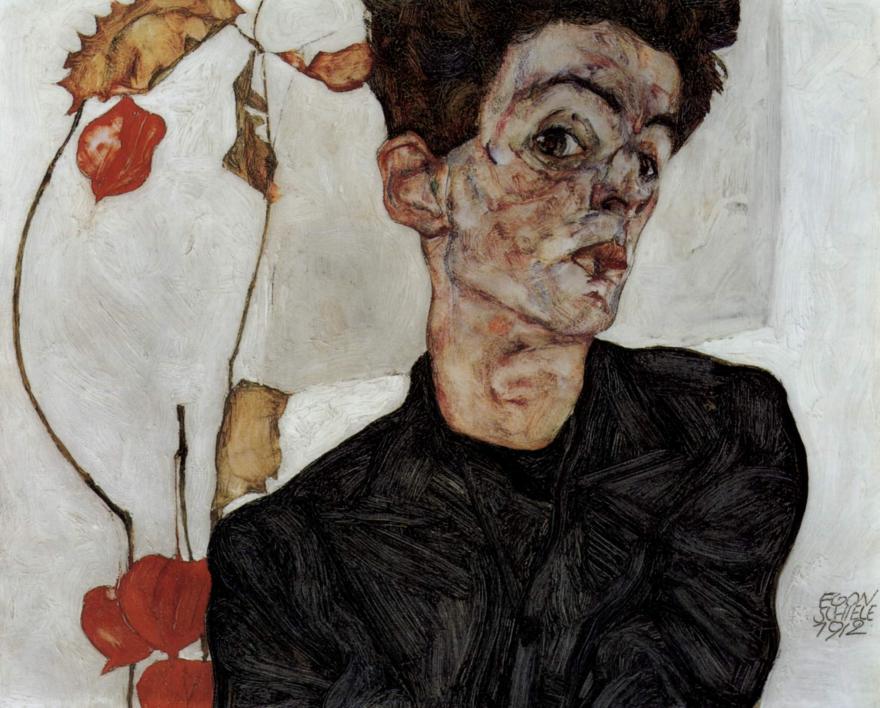 autoportret Egona Schielego