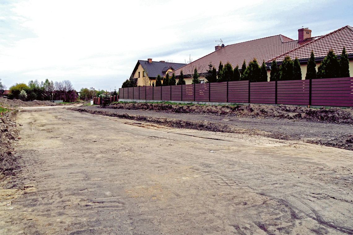 Nowo powstający łącznik przy ul. Chałubińskiego