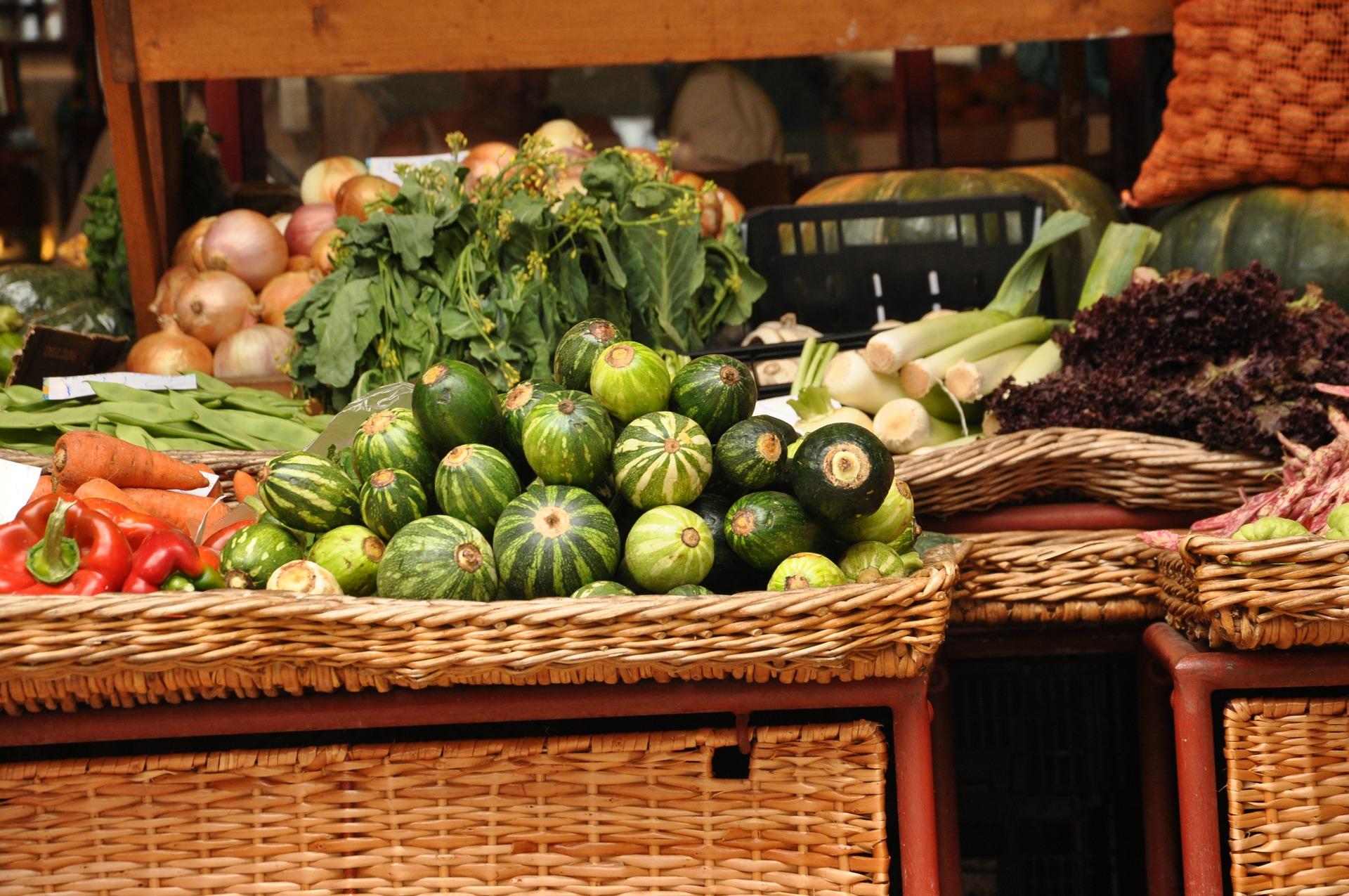 targowisko, warzywa