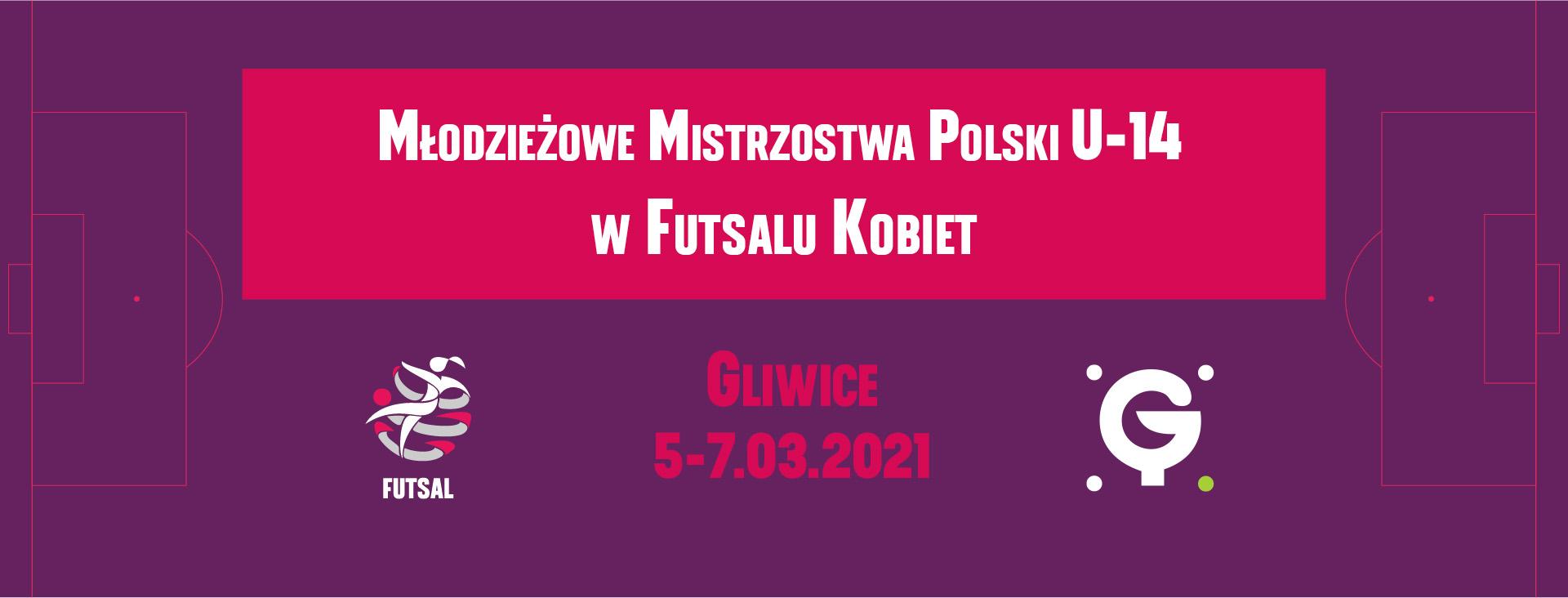 baner Młodzieżowych Mistrzostw Polski w Futsalu