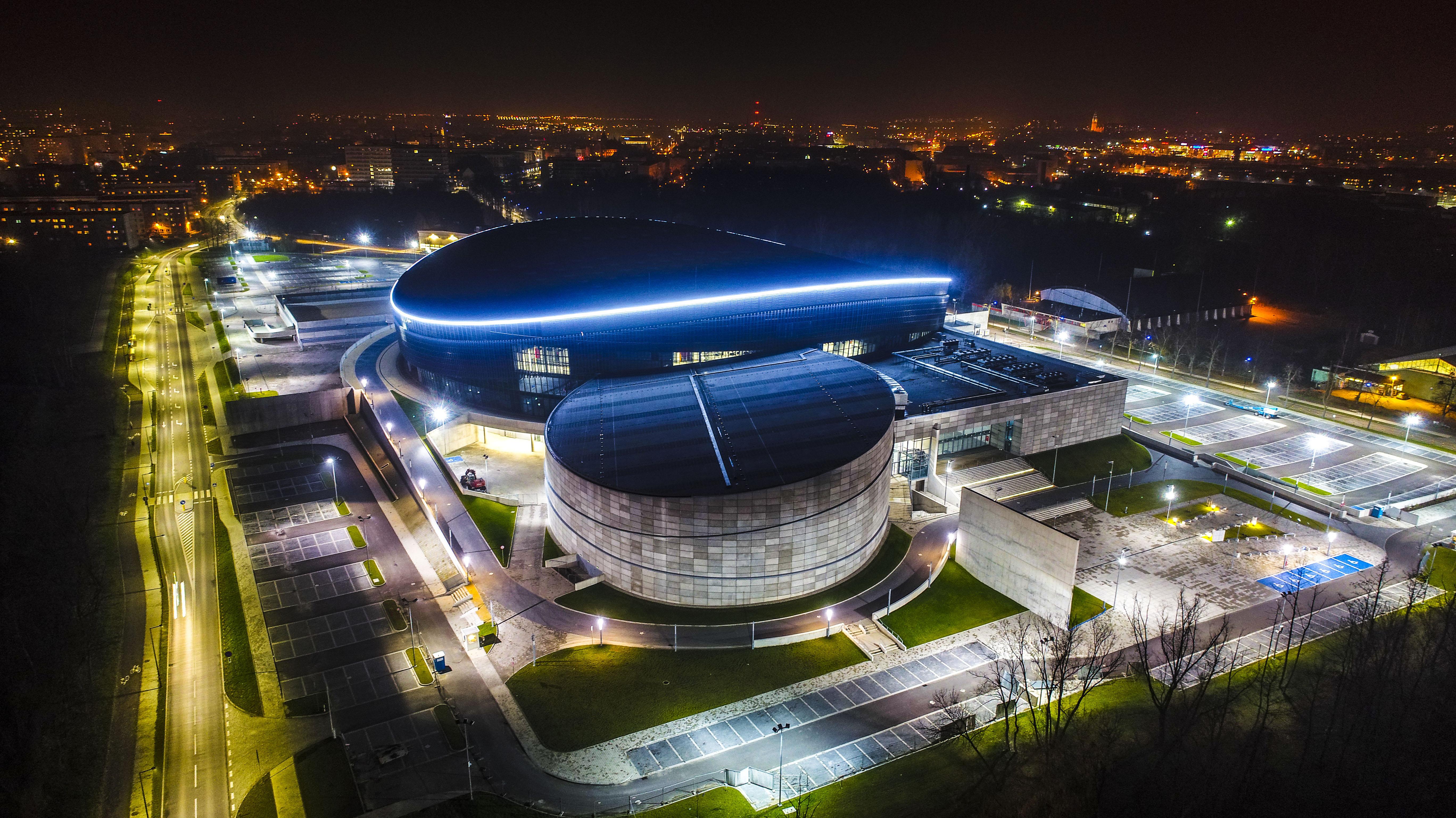Arena Gliwice nocą