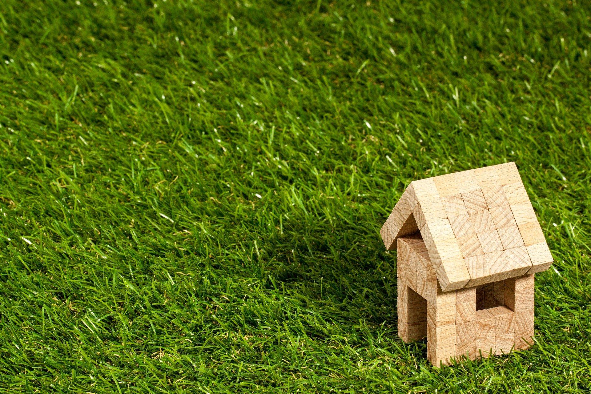 domek na trawie