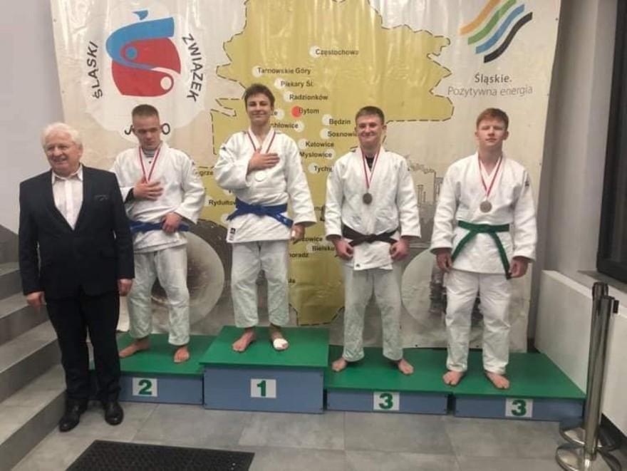 Młodzi judocy na podium Mistrzostw Śląska