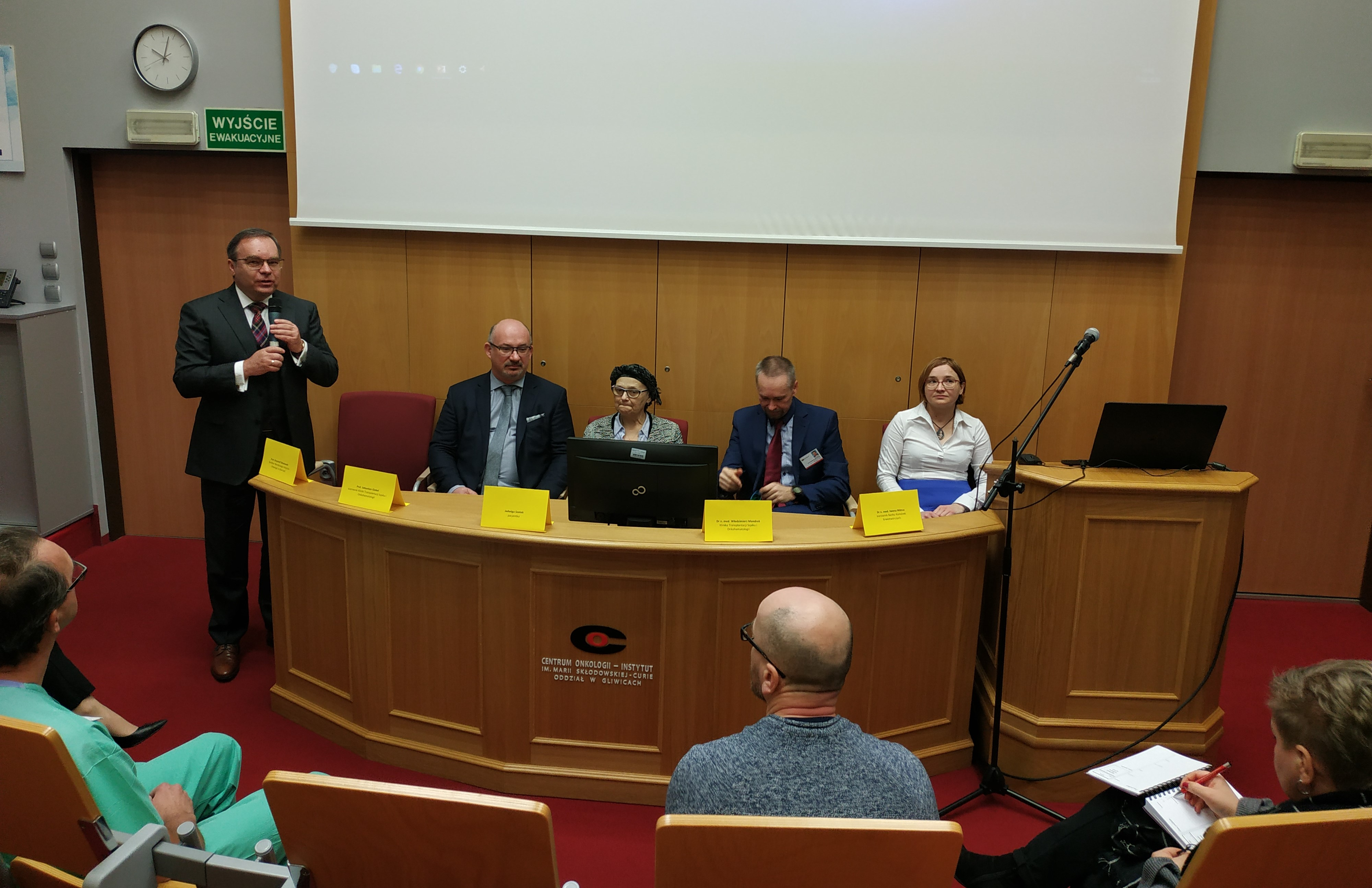 sukces gliwickich onkohematologów, konferencj prasowa
