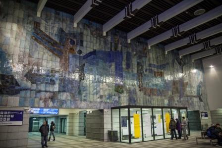 mozaika w holu głównym