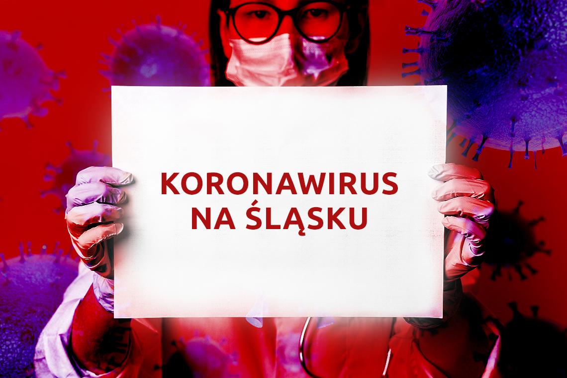 baner: koronowirus na Śląsku