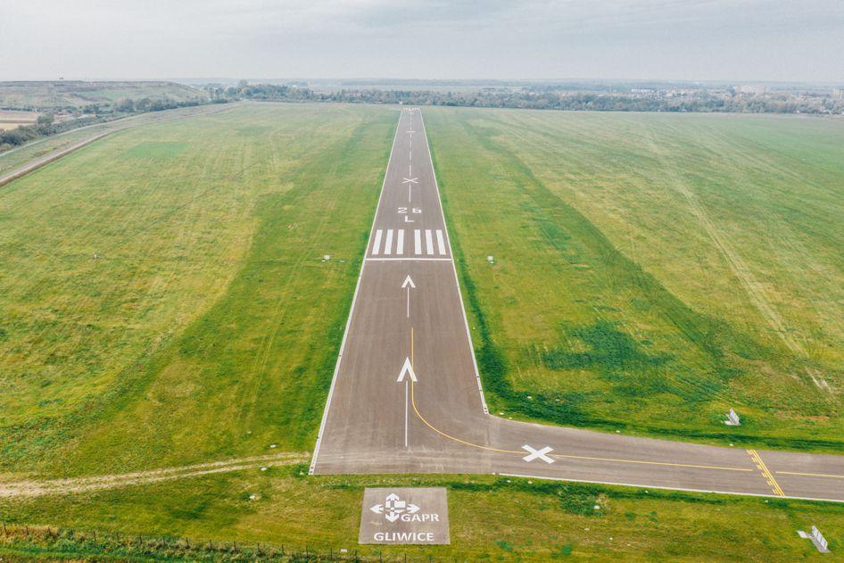 nowy pas startowy na gliwickim lotnisku