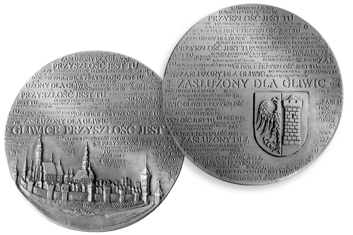medal zasłużony dla Gliwic