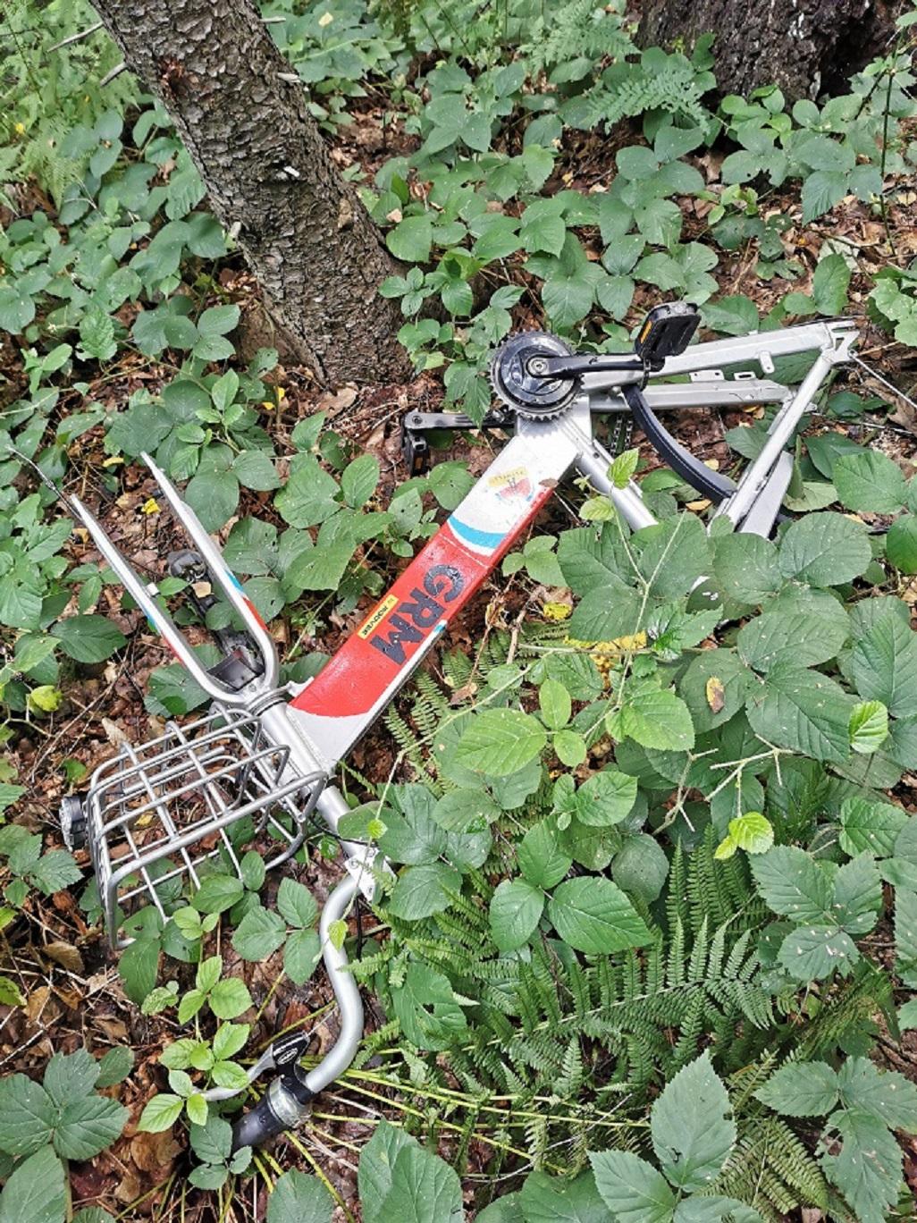uszkodzony rower GRM