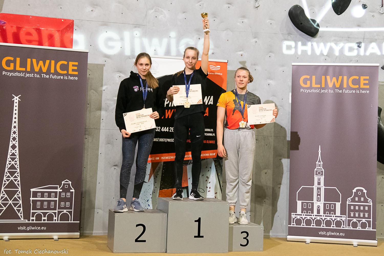 Milena Ciechanowska druga na podium