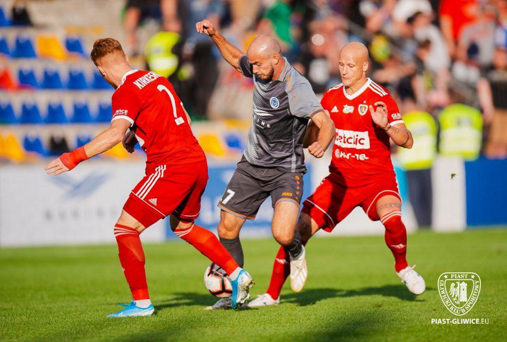 kadr z meczu Riga FC - Piast Gliwice