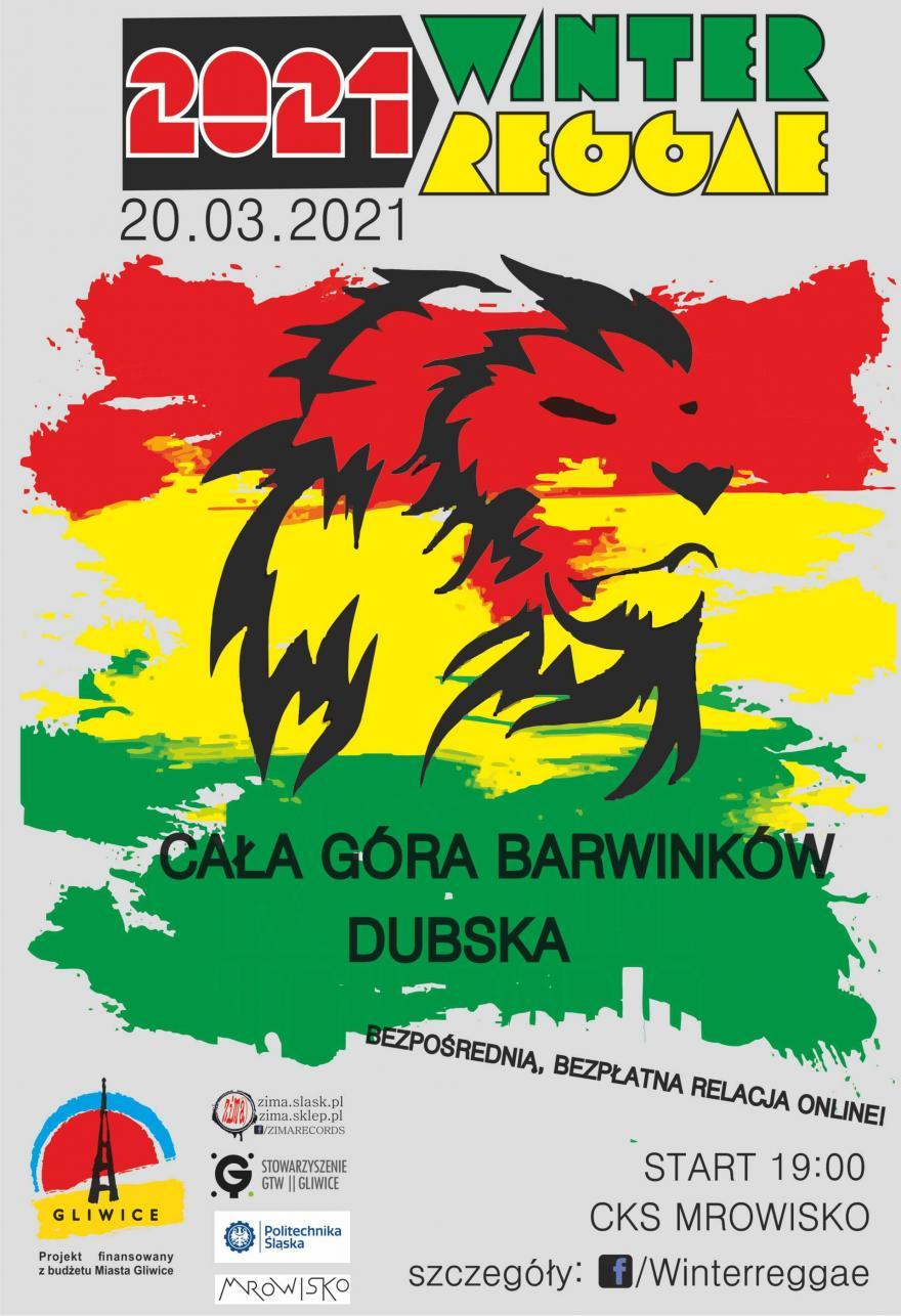plakat z lwem i kolorami Jamajki