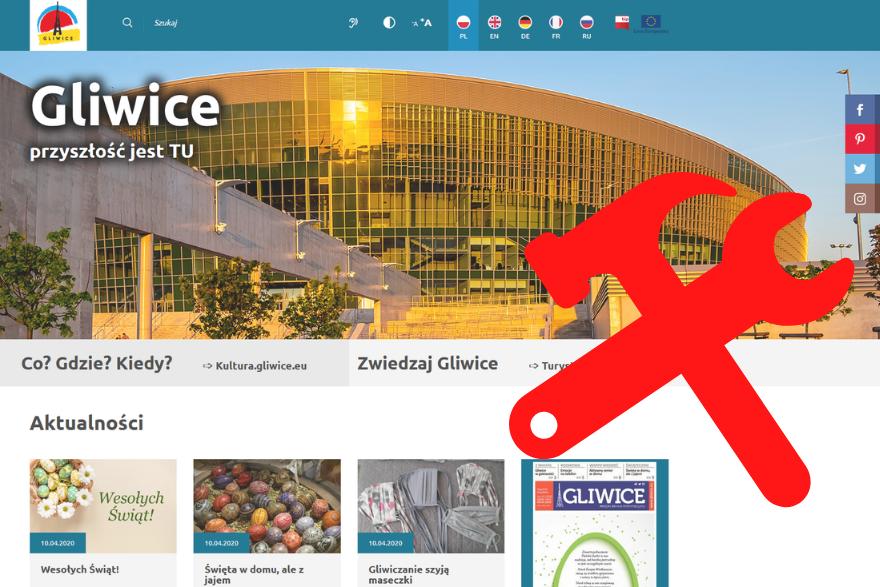 zrzut strony głównej gliwice.eu