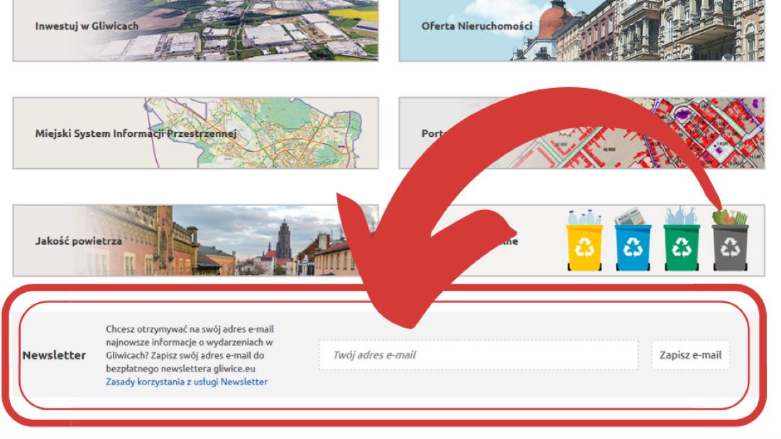 screen strony głównej Gliwice.eu
