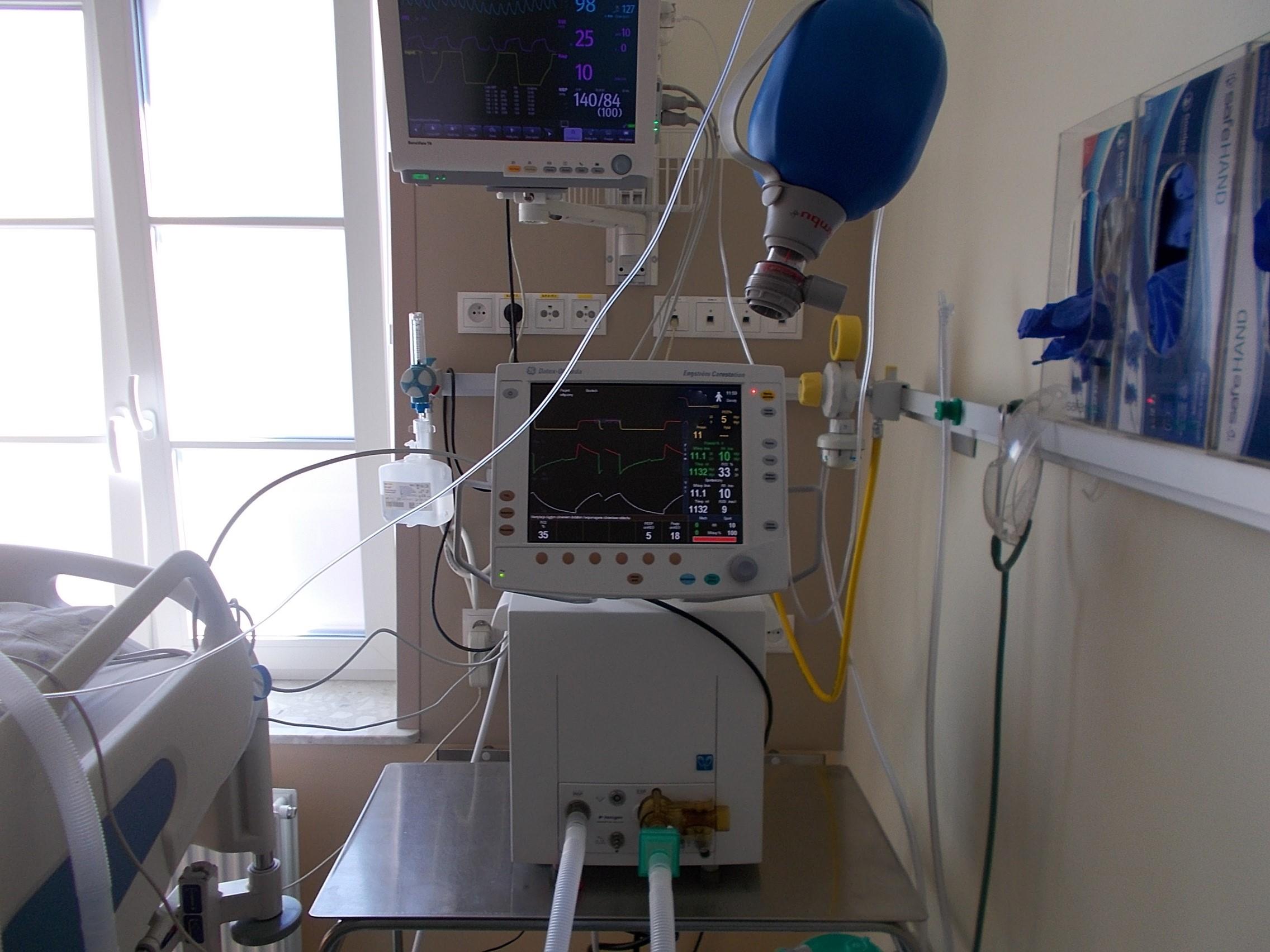 nowy respirator w szpitalu miejskim