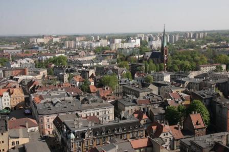 Widok z wiezy kościoła