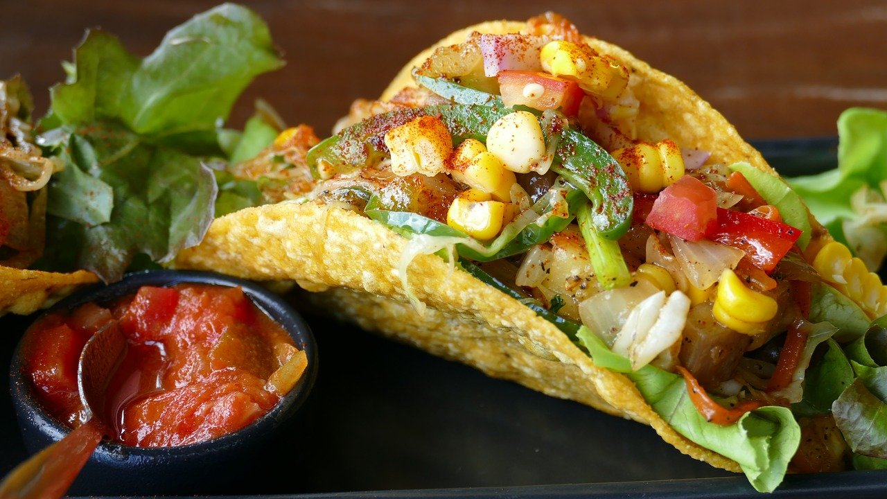 mesksykańskie wegański tacos