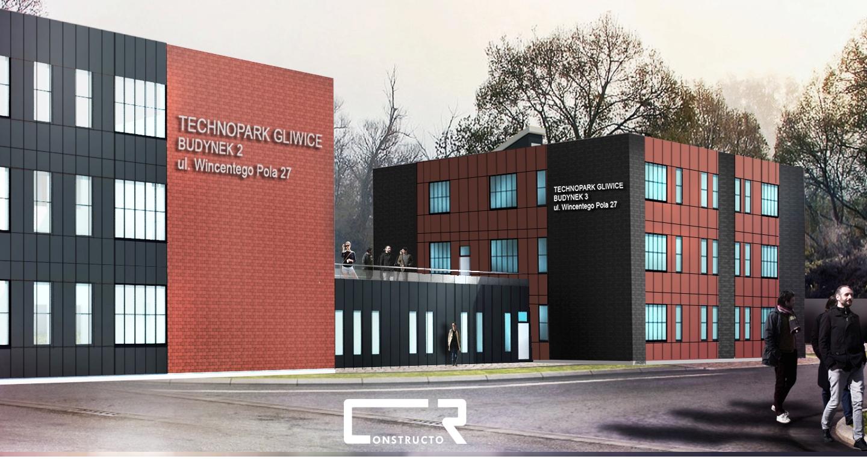 wizualizacja budynku Technopark III