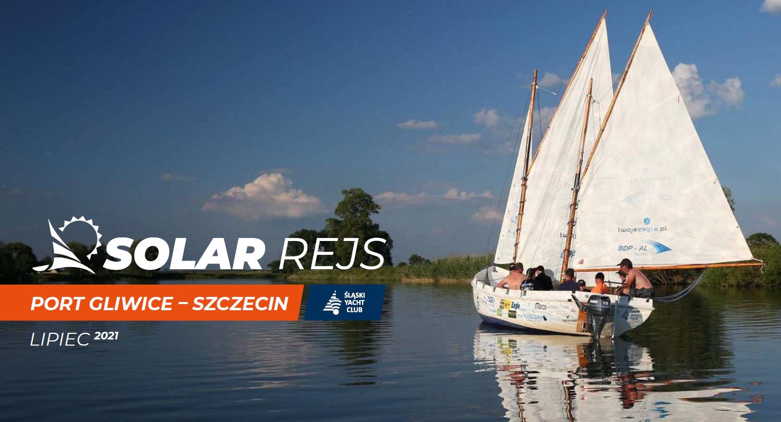 łódź na której popłyną uczestnicy Solar Rejs