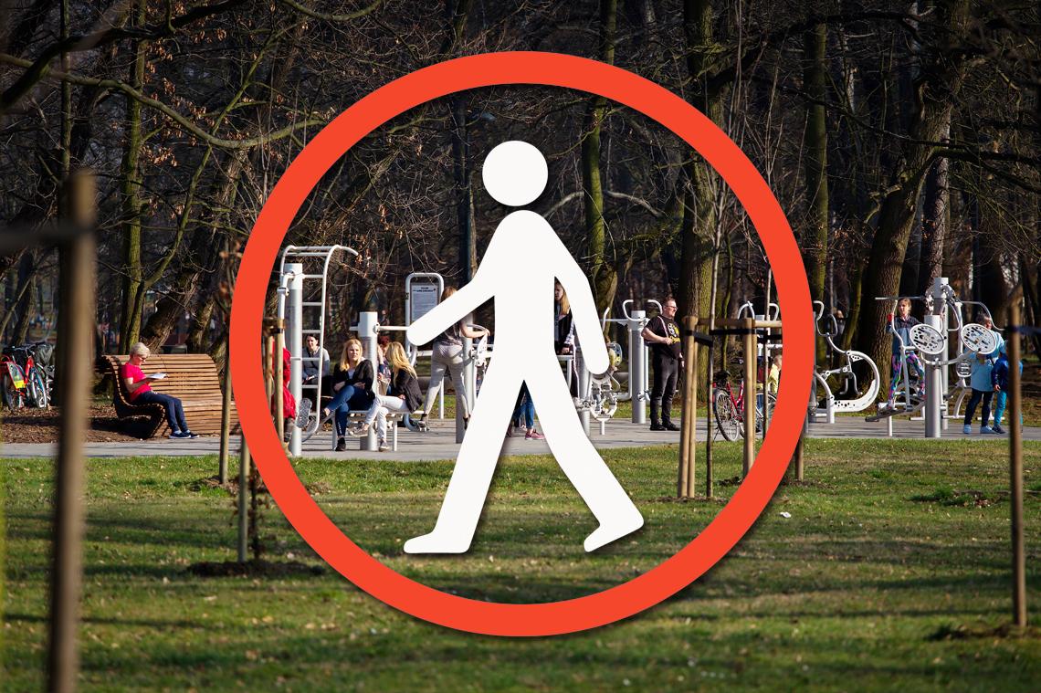 graficzny zakaz wstępu tle plenerowej siłowni
