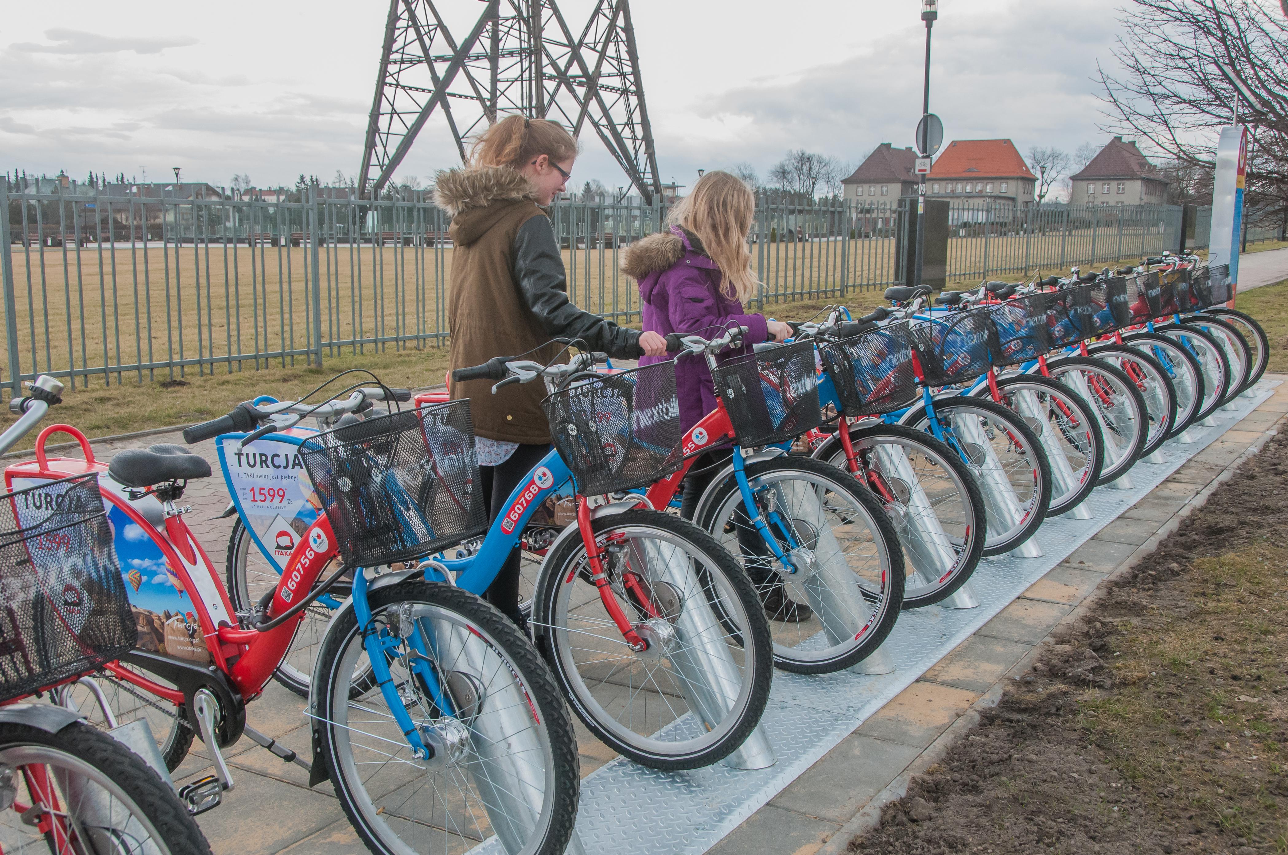 rowery przy Radiostacji