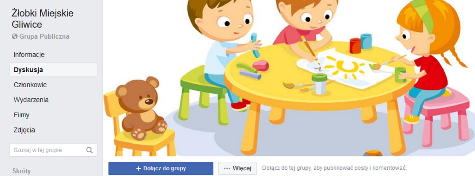 baner fejsbukowy żłobków miejskich
