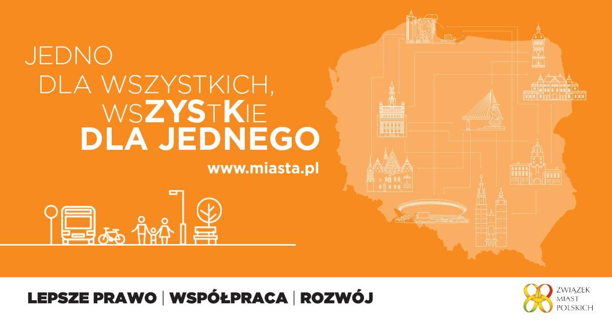 baner kampanii wizerunkowej Związku Miast Polskich